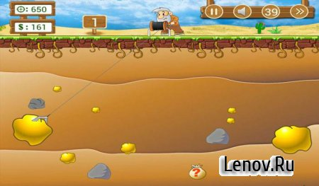 Gold Miner Classic: Gold Rush, Mine Mining Game v 2.5.16 Мод (много денег)