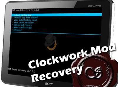 Устанавливаем ClockWorkMod Recovery (CWM) для Acer Iconia Tab A510/A511 (добавлена v 6.0.1.9 от nothrills для acer a510/a511)