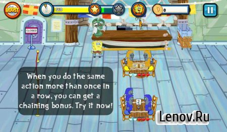 SpongeBob Diner Dash (обновлено v 3.25.3) Mod (Unlocked)