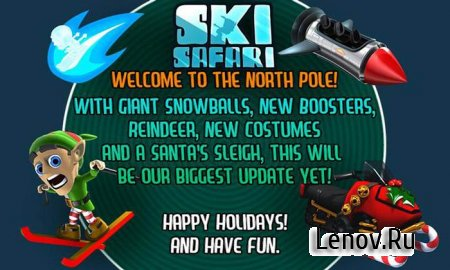 Ski Safari (обновлено v 1.5.4) (Mod Money + Unlocked Shop Items)