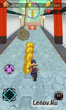 Ninja Killer: Zombies Run v 1.4 Мод (много денег)