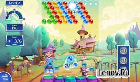 Bubble Witch 2 Saga v 1.91.0.1 Мод (Mod Boosters/Lives/Moves)