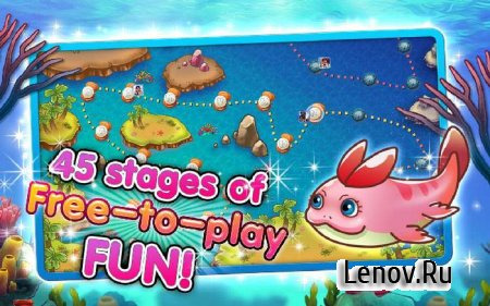 Coco the Fish! -Cute Fish Game v 1.1.2 Мод (бесконечные жизни)