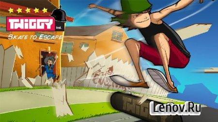 Twiggy Skate To Escape v 1.0 Мод (много бутылок)