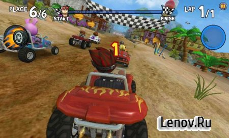 Beach Buggy Racing v 1.2.25 Мод (Unlimited Coins/Gems/Tickets & More)