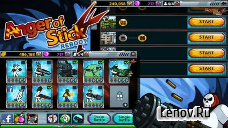 Anger Of Stick 4 v 1.1.7 Мод (много денег)