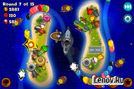 Bloons Monkey City v 1.11.4 Мод (много денег)
