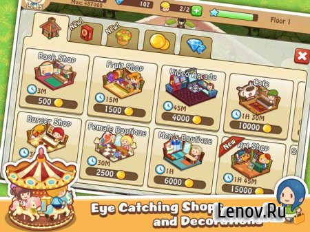 Happy Mall Story: Sim Game v 2.3.1 Мод (Infinite Diamonds)