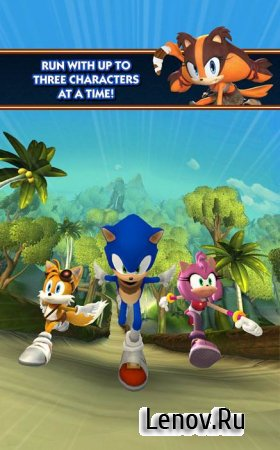 Sonic Dash 2: Sonic Boom v 1.8.1 Мод (infinite Red Rings)
