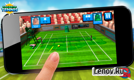 Fingertip Tennis v 1.6 Мод (полная версия)