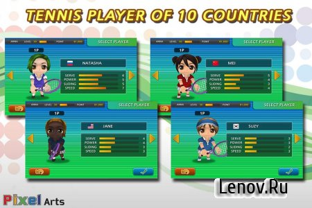 Pocket Tennis v 1.9.3913 Мод (много денег)