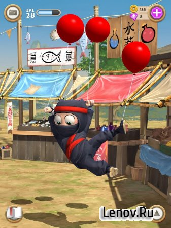 Clumsy Ninja v 1.32.2 Мод (Unlimited Coins/Gems)