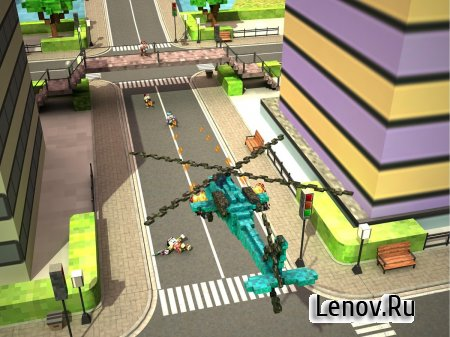 Blocky Copter in Compton v 1 (Mod Money)