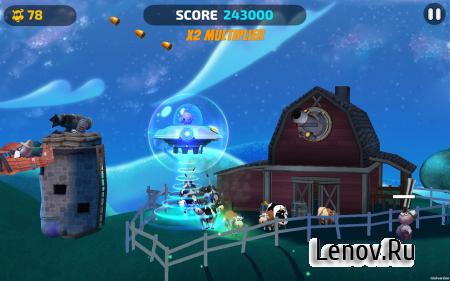 UFOs Love Cows v 1.2.4 (Mod Money/PowerUp)