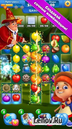 Fruit Land – match3 adventure (обновлено v 1.114.0) (Mod Apples)