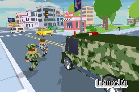 Blocky Army City Rush Racer v 1.1 (Mod Money)