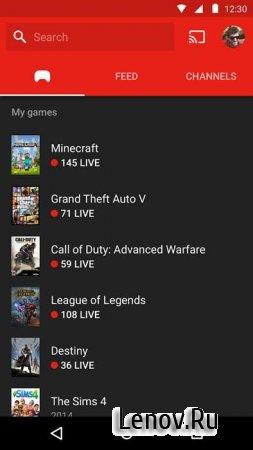 YouTube Gaming (обновлено v 1.93.18.2)