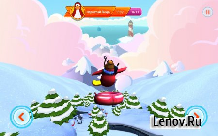 Club Penguin Sled Racer v 1.3.0 Мод (All Power Ups Purchased)