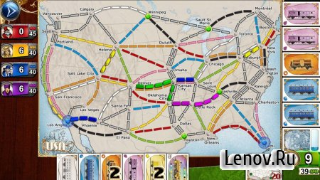 Ticket to Ride v 2.7.10-6769-a4311929 Мод (Unlocked)