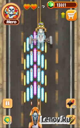 Mad Fury Hero Zombie v 1.0.1 (Mod Gems)