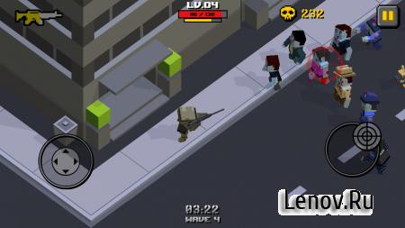 Cube Zombie War (обновлено v 1.2.2) (Mod Money)