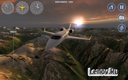 Airplane Fly the Swiss Alps v 1.4 Мод (Unlocked)