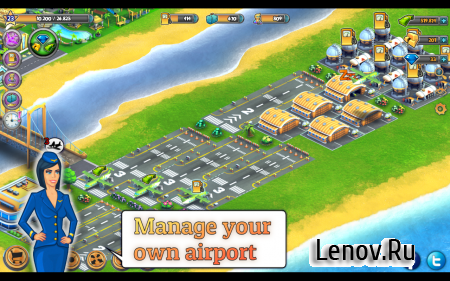 City Island: Airport Asia (обновлено v 2.3.7) Мод (Unlimited Cash/Diamonds)