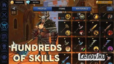 Quest of Heroes: Clash of Ages v 1.1.7 Мод (Massive damage/God mode)