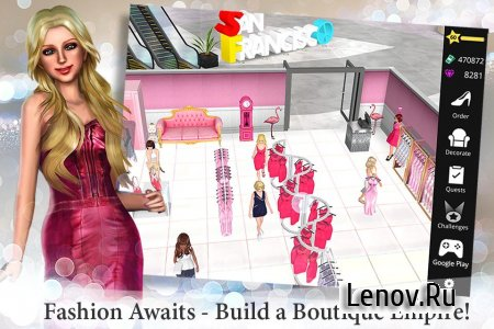 Fashion Empire - Boutique Sim v 2.88.2 Мод (Infinite Coins/Cash/Keys)