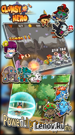 Clumsy Hero v 1.1.3 Мод (1 Hit/Enemy Disarmed)