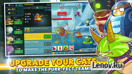 "Tap Cats: Idle Warfare v 1.0.5 Мод (All Currency ""i8"")"