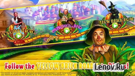 Wizard of Oz Free Slots Casino (обновлено v 74.0.1928) Мод (Multiplier set to x100 on first level)