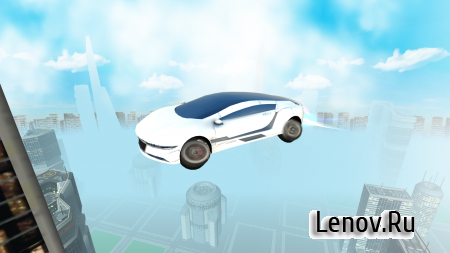 Futuristic Flying Car Driving v 3