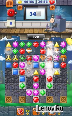 Jewel Blast Match 3 Game v 2.0 Мод (Infinite Coins)