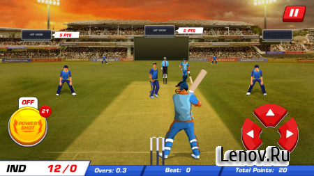Power Cricket T20 Cup 2016 v 2.3 Мод (Infinite Powershots)