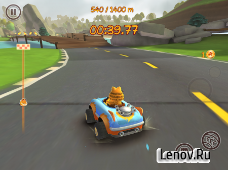 Garfield Kart Fast & Furry v 1.043 Мод (Unlimited Gems & More)