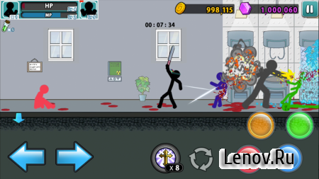 Anger of Stick 5: Zombie v 1.1.33 Мод (Free Shopping)