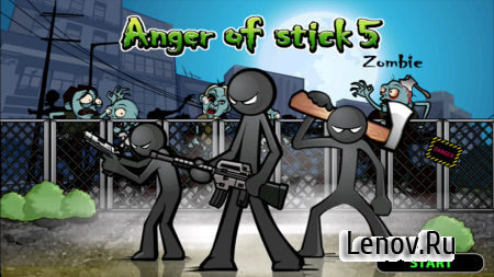 Anger of Stick 5: Zombie v 1.1.29 Мод (Free Shopping)