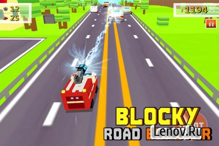 Blocky Road Blaster - Wild Race v 1.0.1 (Mod Money)