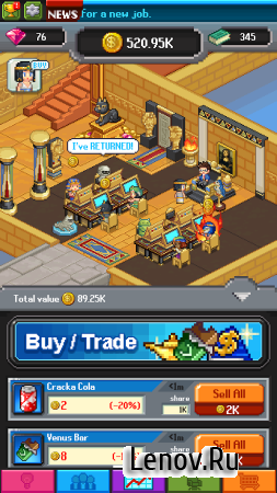 Tap Tap Trillionaire - The Last Quarter v 1.24.15 Мод (Free Shopping)