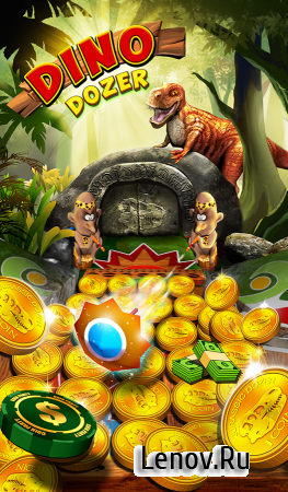 Jurassic Coin Dino Pusher v 1.2.0 Мод (Infinite Coins & More)