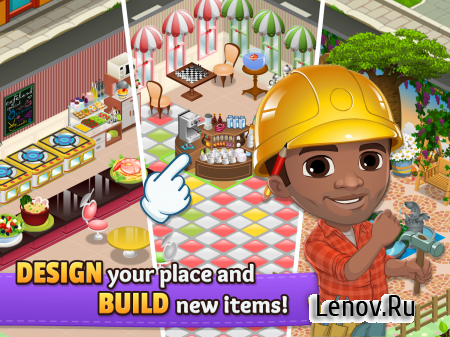 Cafeland - World Kitchen v 2.1.11 Мод (Unlimited Money)