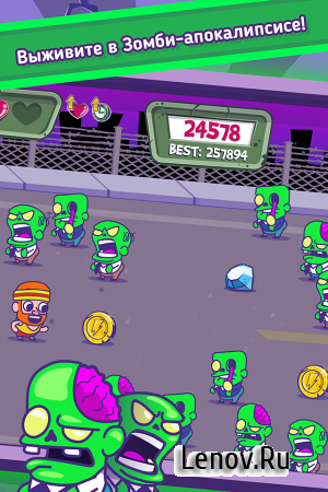 Zombie Chase v 1.0.1 (Mod Money/Unlock/Ads-Free)