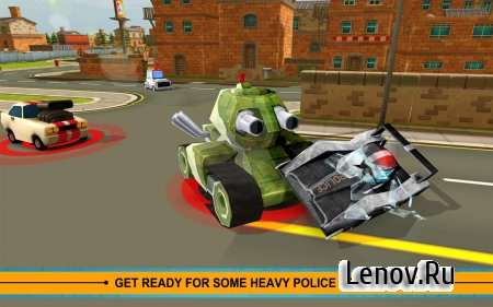 Blocky Cop Pursuit Terrorist v 1.3 (Mod Money/Fuel/Nitro)