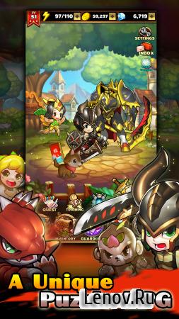 Puzzle Guardians (обновлено v 1.0.18) Мод (Hero Massive Damage & More)