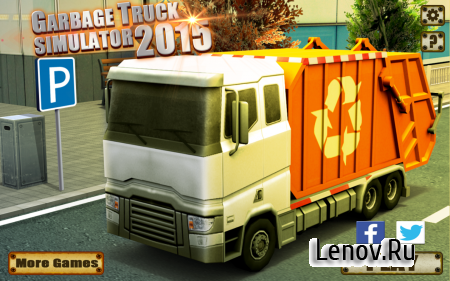 Garbage Truck Simulator 2015 (обновлено v 2.3) (Mod Money)