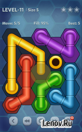 Pipe Lines : Hexa (обновлено v 2.4.11) (Mod Hints/Unlocked)