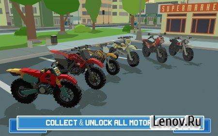 Moto Rider 3D: Blocky City 17 (обновлено v 1.4) (Mod Money)