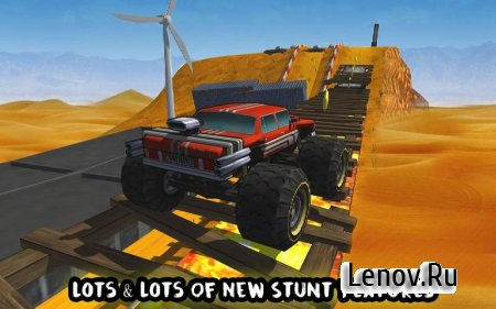 Crazy Monster Bus Stunt Race v 1.3 Мод (Many coins/Open all the machines)