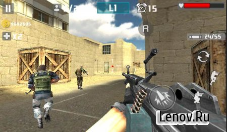 Gun Shot Fire War v 1.2.6 Мод (High Gold Gain in any MODE)